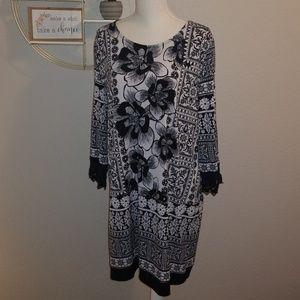 Alfani Black & White dress